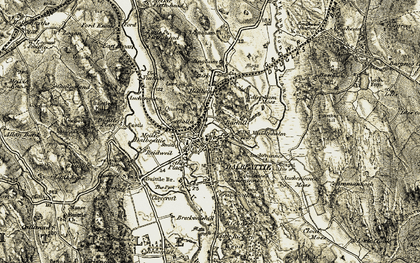 Old map of Auchengate in 1904-1905
