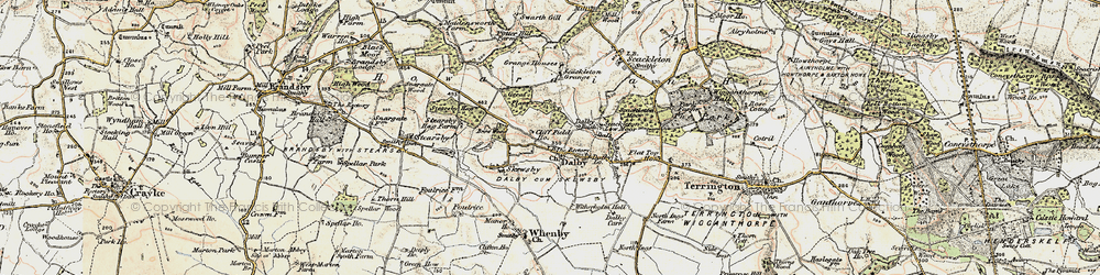 Old map of Witherholme Hall in 1903-1904