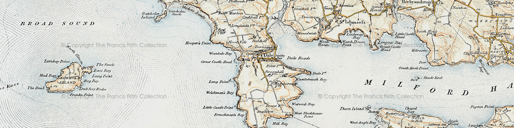 Old map of Westdale Bay in 0-1912