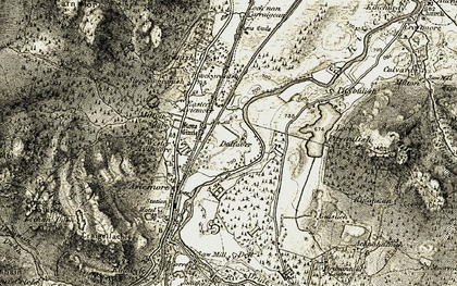 Old map of Dalfaber in 1908