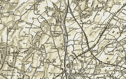 Old map of Ashgrove in 1905-1906
