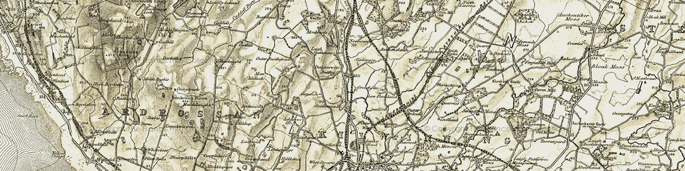 Old map of Whithurst in 1905-1906