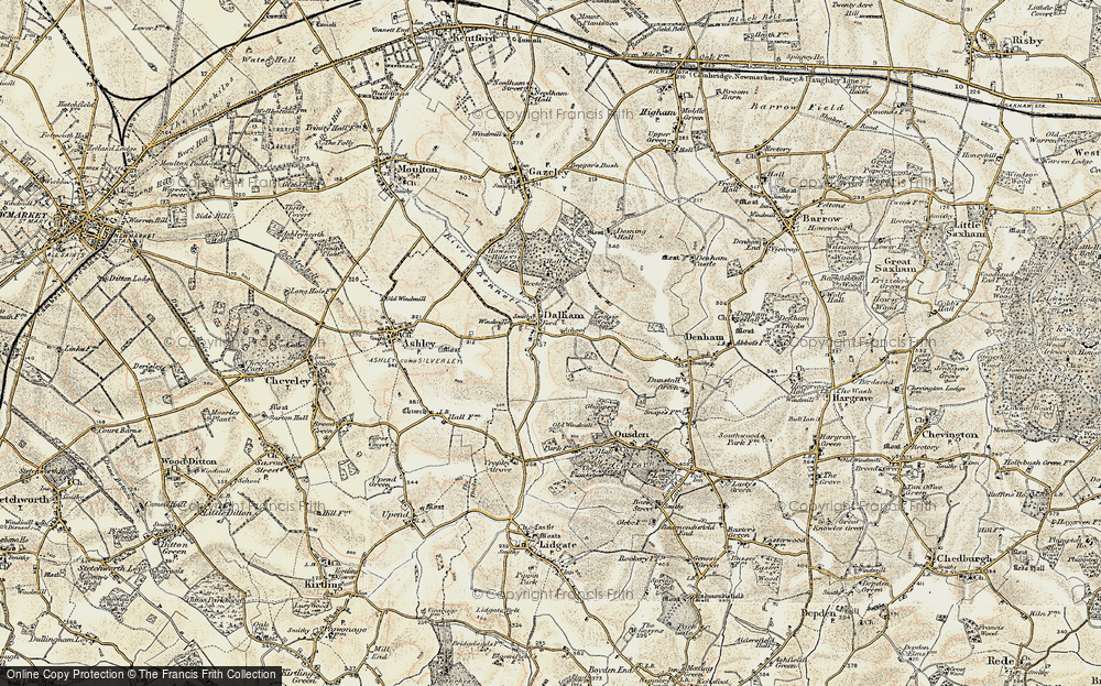 Old Map of Historic Map covering Leipsic Wood in 1899-1901