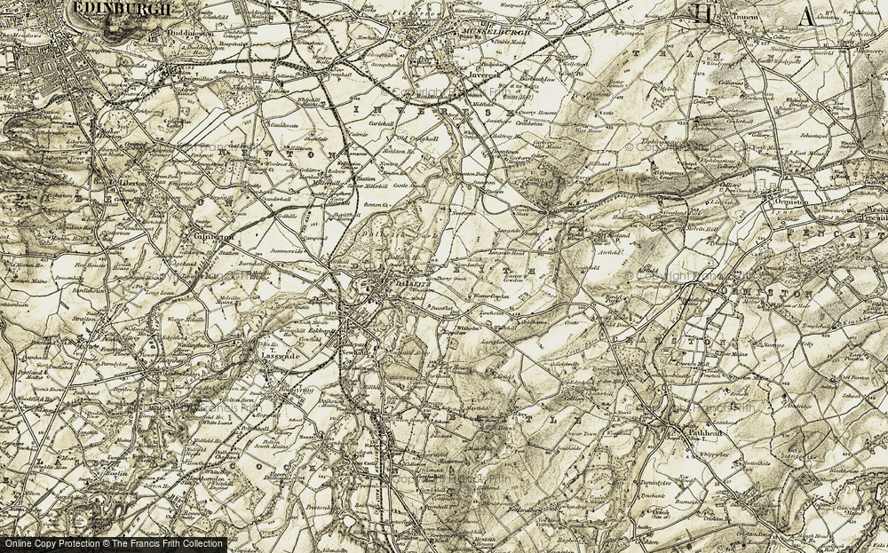 Old Map of Historic Map covering Langside in 1903-1904