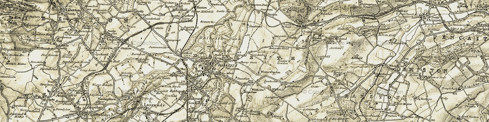 Old map of Wester Cowden in 1903-1904