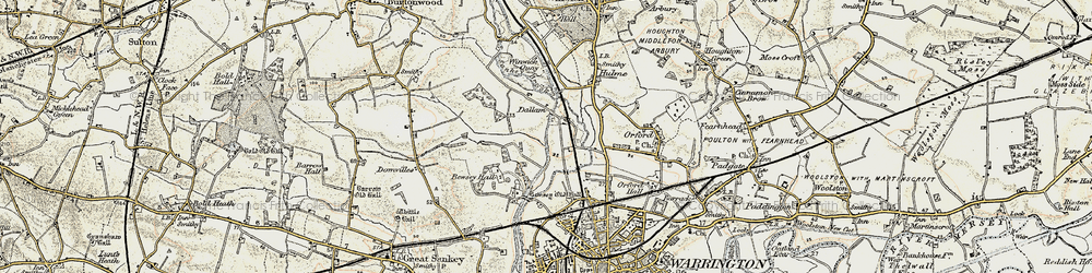 Old map of Dallam in 1903
