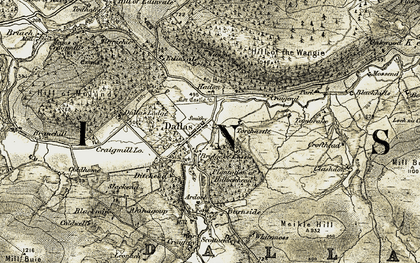 Old map of Leonach in 1910-1911