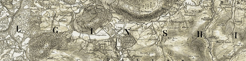 Old map of Todholes in 1910-1911