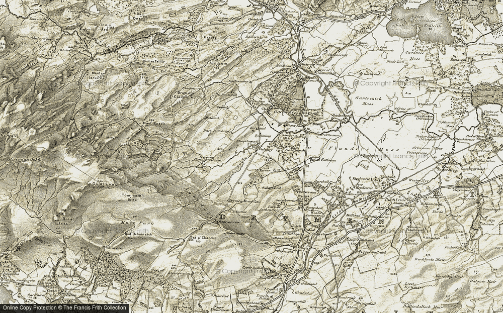 Old Map of Historic Map covering Back Borland in 1904-1907