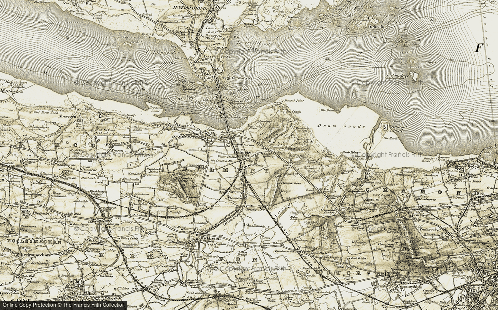 Old Map of Historic Map covering Leuchold in 1903-1906