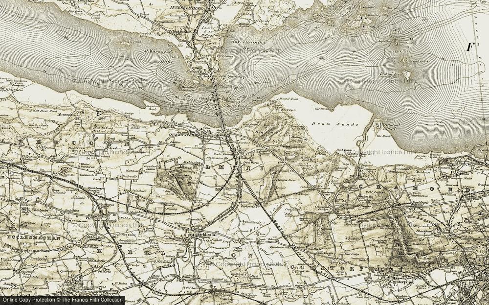 Old Map of Dalmeny, 1903-1906 in 1903-1906