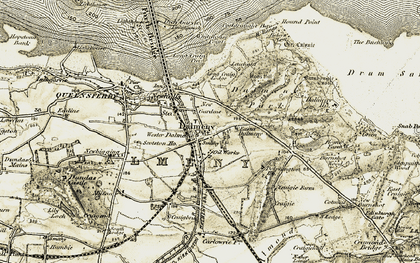 Old map of Leuchold in 1903-1906