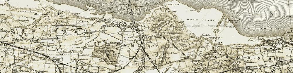 Old map of Dalmeny in 1903-1906