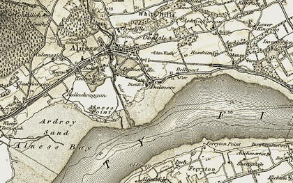 Old map of Dalmore in 1911-1912