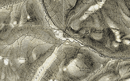 Old map of Allt Coire Mhic-sith in 1906-1908