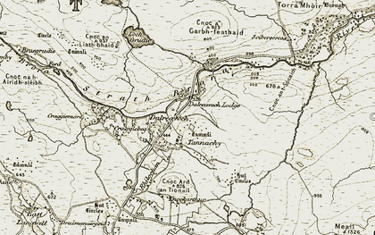 Old map of Dalreavoch in 1910-1912