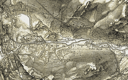 Old map of Tighmore in 1906-1908