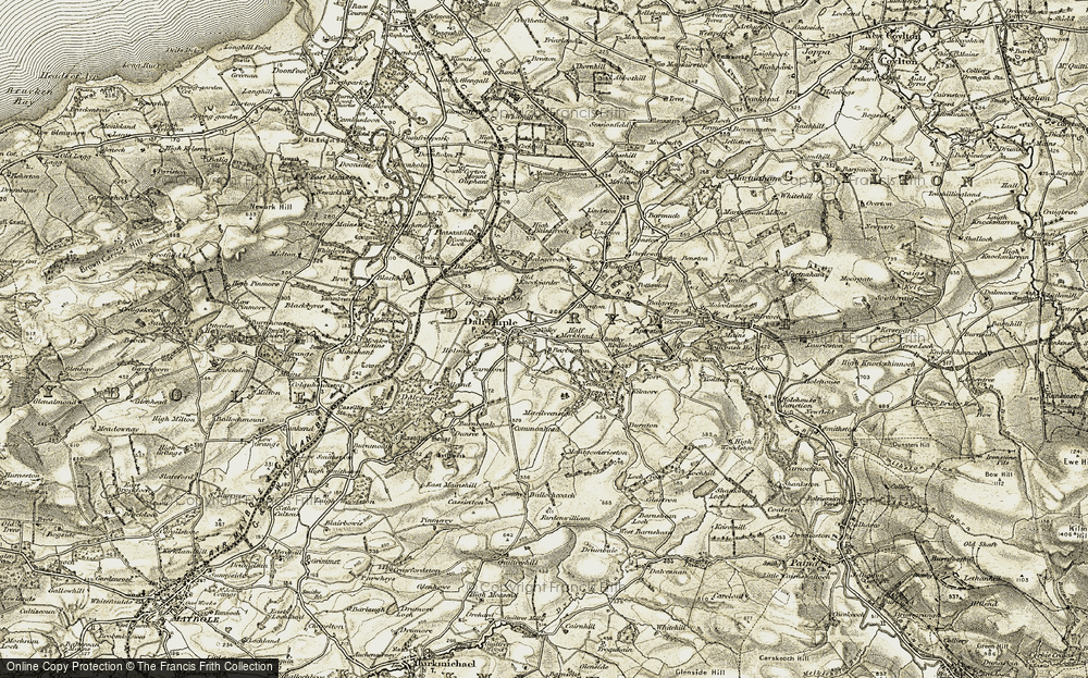 Old Map of Historic Map covering Ballycoach in 1904-1906