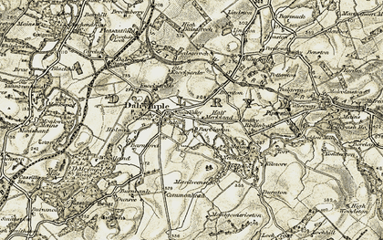 Old map of Dalrymple in 1904-1906