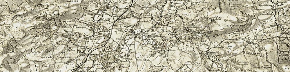 Old map of Lindston in 1904-1906