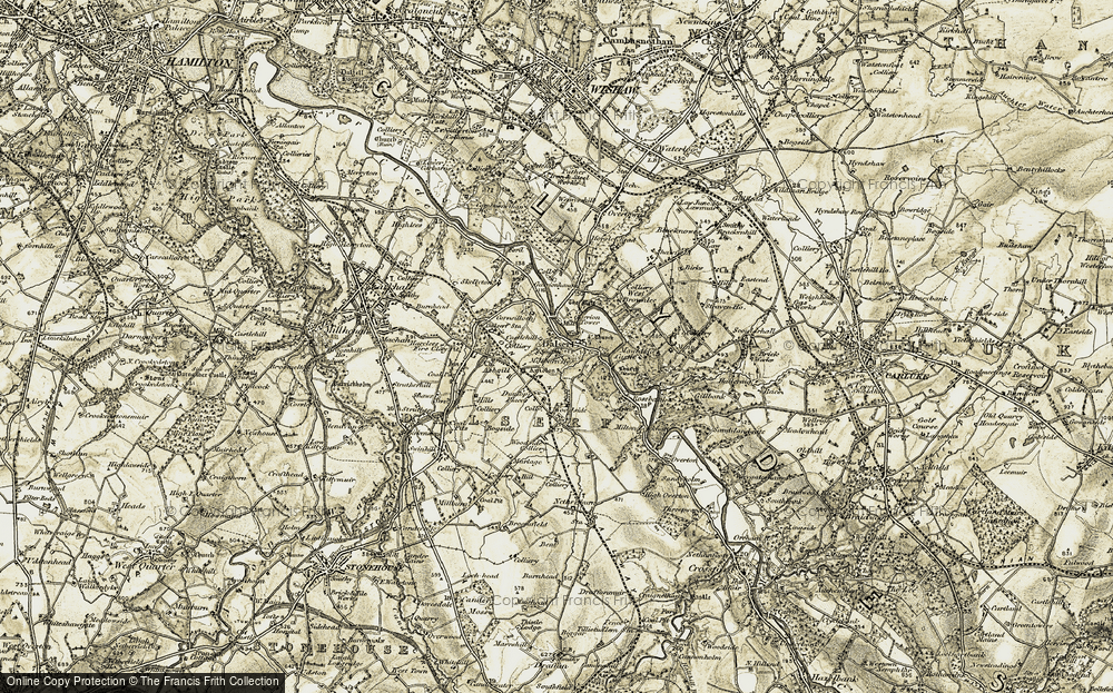 Old Map of Dalserf, 1904-1905 in 1904-1905