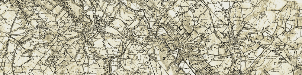 Old map of Dalserf in 1904-1905