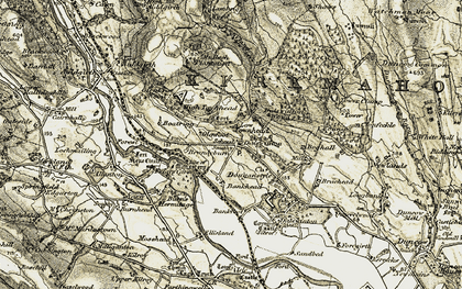 Old map of Bankfoot in 1901-1905