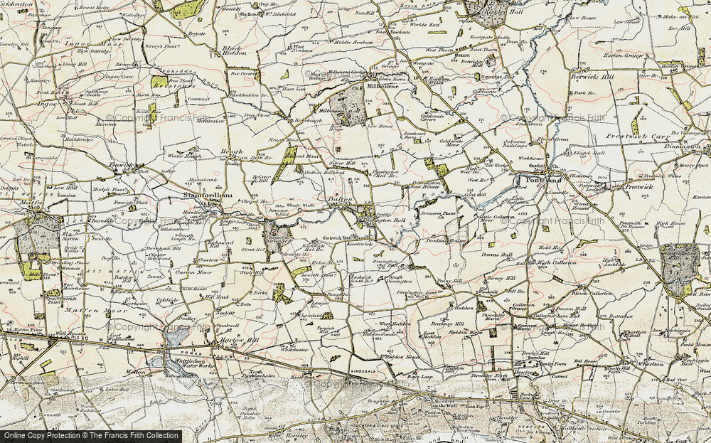 Old Map of Historic Map covering Leager Ho in 1901-1903