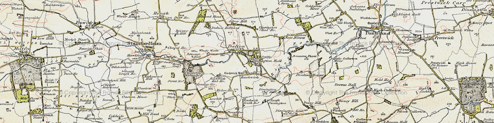 Old map of Windy Walls in 1901-1903