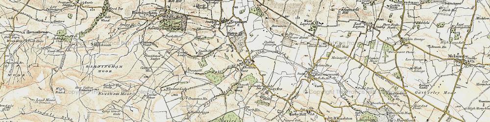 Old map of Dalton in 1903-1904