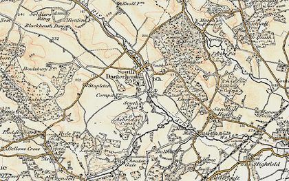 Old map of Ashridge Copse in 1897-1909