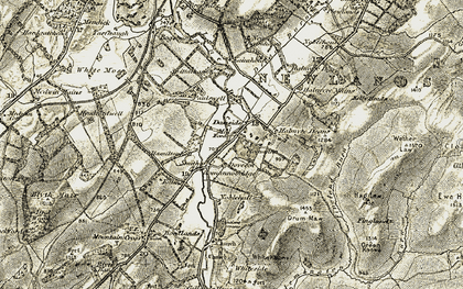 Old map of Acorn Lodge in 1903-1904