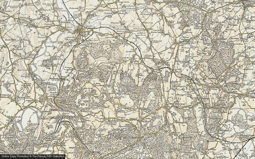 Old Map of Historic Map covering Baileybrook in 1899-1900