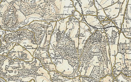 Old map of Baileybrook in 1899-1900