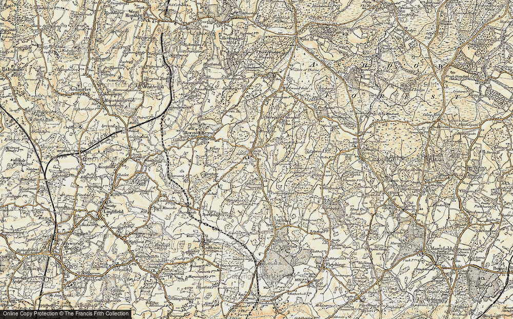 Old Map of Danehill, 1898 in 1898