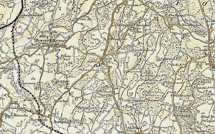 Old map of Danehill in 1898