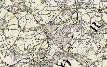 Old map of Danesbury in 1898-1899