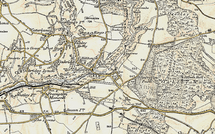 Old map of Daneway in 1898-1899