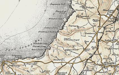 Old map of Dannonchapel in 1900