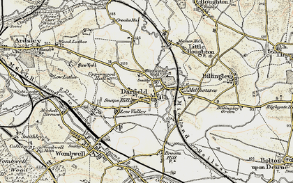 Old map of Darfield in 1903