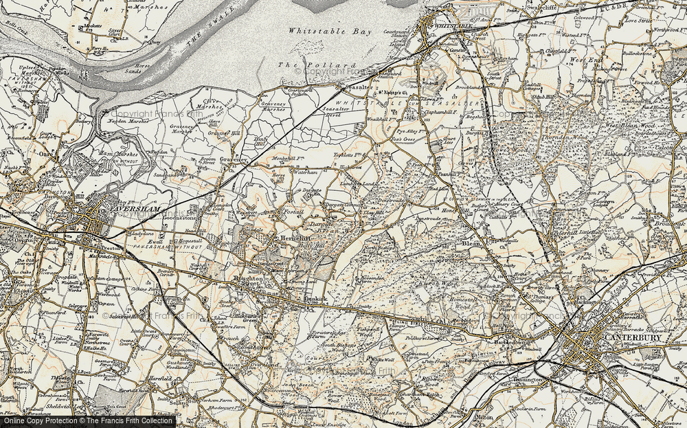 Old Map of Historic Map covering Acorn Cott in 1897-1898