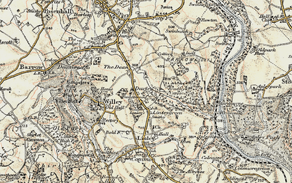 Old map of Ash Coppice in 1902