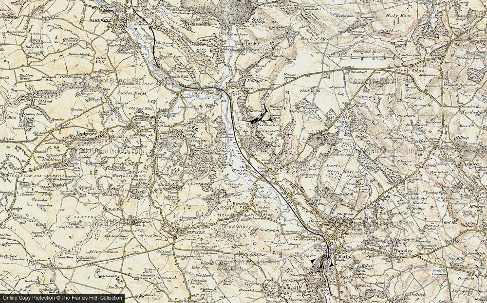 Old Map of Darley Dale, 1902-1903 in 1902-1903