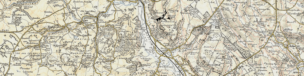 Old map of Darley Dale in 1902-1903