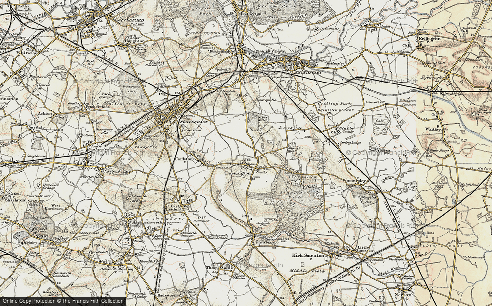 Old Map of Historic Map covering Leys in 1903