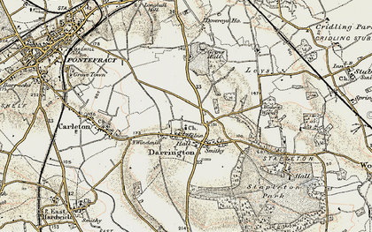 Old map of Leys in 1903