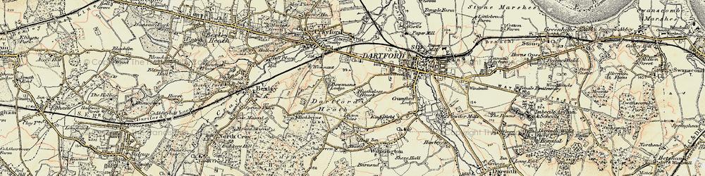Old map of Dartford in 1897-1898