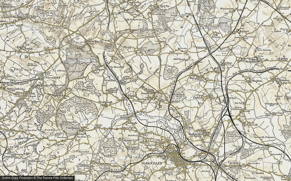 Old Map of Darton, 1903 in 1903