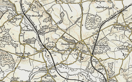 Old map of Darton in 1903