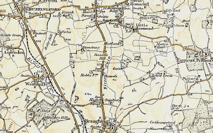 Old map of Dassels in 1898-1899